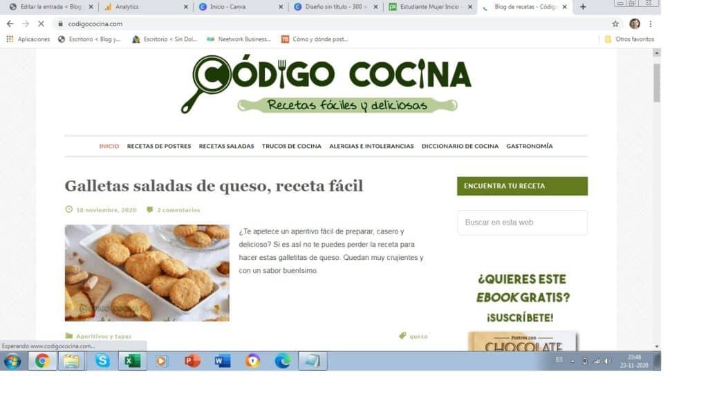 ganar mucho dinero con un blog de cocina