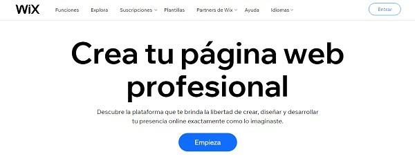 como crear paginas web gratis